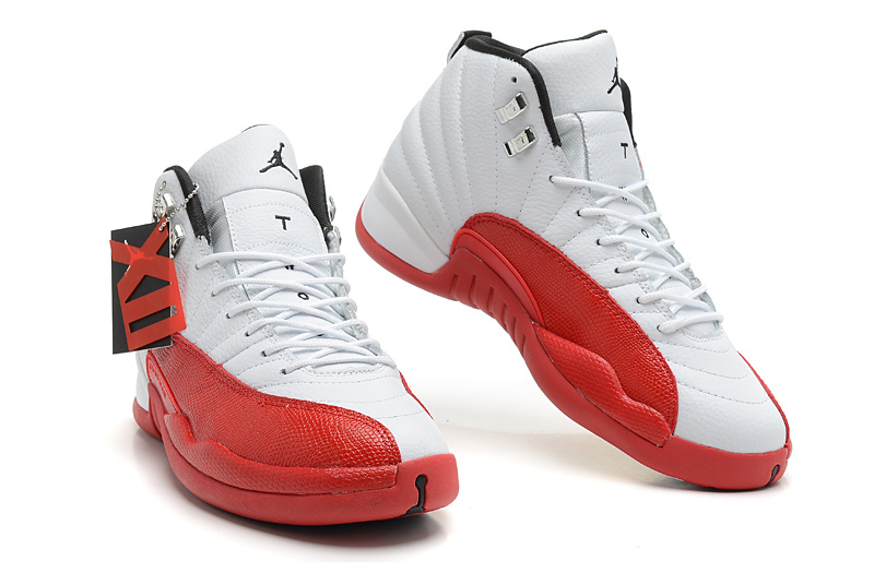 jordan 12 red and white