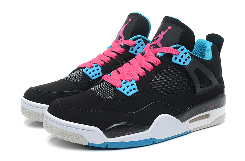 jordan 4 black and blue