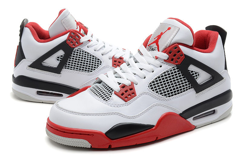 jordan 4 red and white